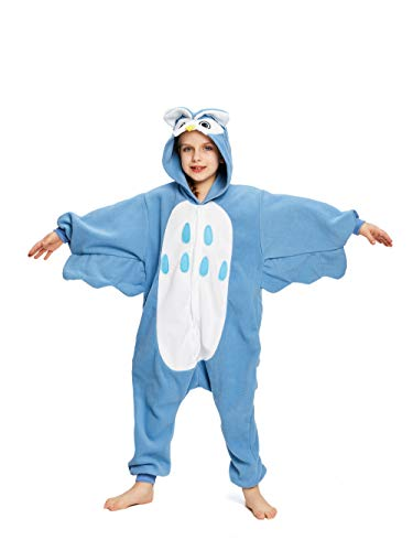 NEWCOSPLAY Unisex Children Owl Pyjamas Halloween Costume (4-Height 38-40