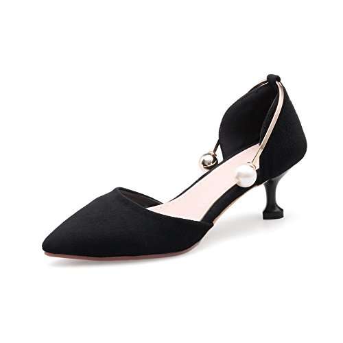 Noir ASL05308 Sandales Noir 36 5 Femme Compensées BalaMasa AZqxdwITn