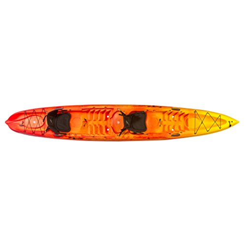 Ocean Kayak Zest Two Expedition Tandem Sit-On-Top Touring Kayak, Sunrise, 16 Feet 5 Inches