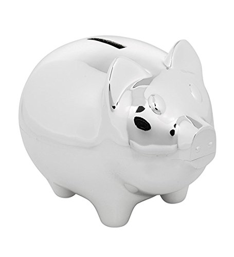 New Silver Plated Baby Pig Money Box/Piggy Bank/Christening/Baby Shower The Album Shop