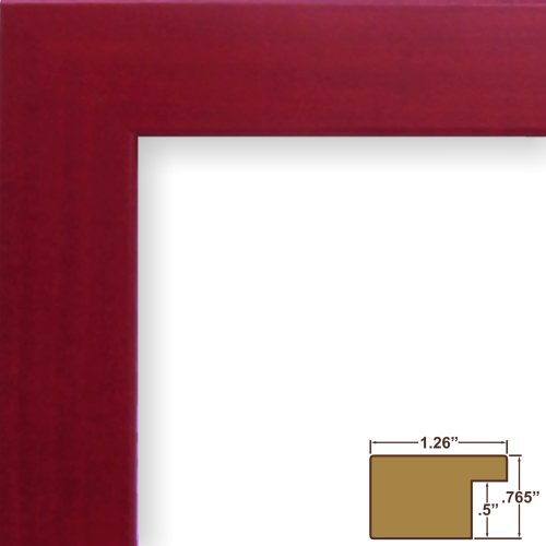 Craig Frames 26024 16 by 22-Inch Picture Frame, Smooth Wrap Finish, 1.26-Inch Wide, Red