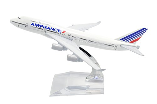 TANG DYNASTY(TM) 1:400 16cm B747-400 Air France Metal Airplane Model Plane Toy Plane Model
