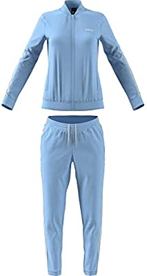 adidas Women's WTS BACK2BAS 3S SUITS, Blue (Glow Blue/white ...
