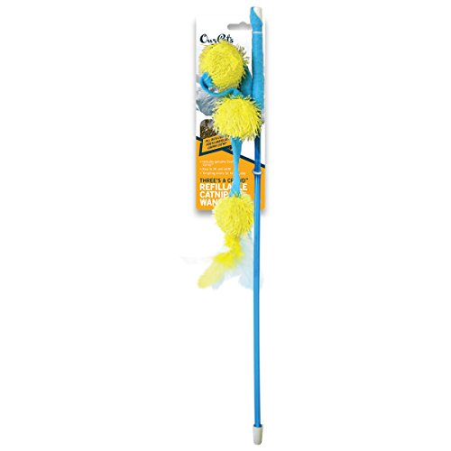 OurPets Three's a Crowd North American Catnip Wand Cat Toy
