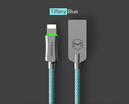 MCDODO Smart LED Auto Disconnect Lightning Data USB Charging Cable Cord For Iphone 6s 7 Plus (Tiffany - Co And Tiffany Ca