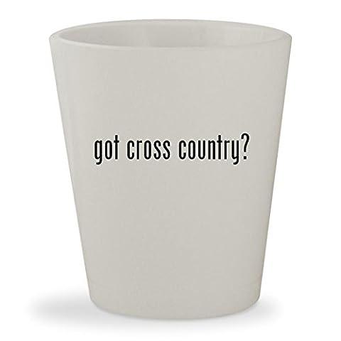 got cross country? - White Ceramic 1.5oz Shot Glass - Karhu Backcountry Ski