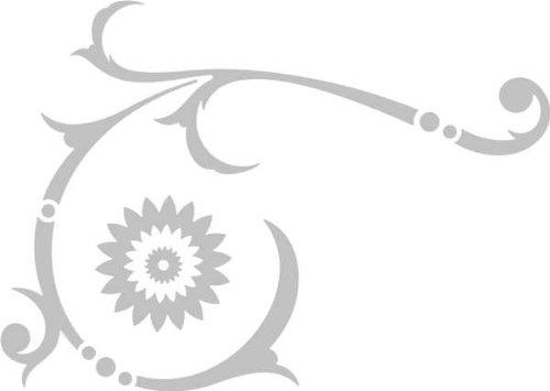 WANDTATTOO / Wandaufkleber - e38 absolut herrliches Tribal Blätter Blumen Pflanzen Ranke 160x113 cm - glasdekor