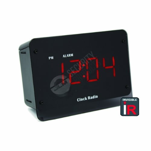 Hidden Camera Night Vision Clock - Mini Spy Camera Built Into a Fully Functional Alarm Clock Radio - Perfect for Office or Home Use as Nanny Cam - IR Infrared Night Vision LED Illuminators are 100% Invisible to the Human Eye - Records to Micro SD Card up to 32GB (4GB Card Included) - No Beeps, Buzzers, or Lights to Give it Away! - Professional Grade Spy Gear by JLM Security Products