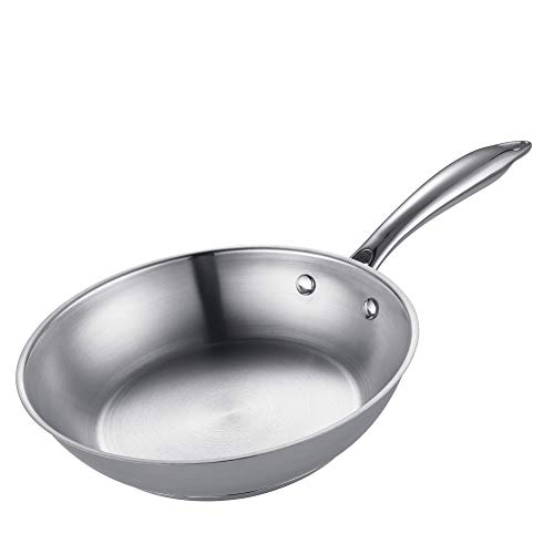 Cheap Mr Rudolf 8 inch 18/10 Stainless Steel Fry Pan Dishwasher Safe APEO& PFOA Free Omelets Skillet