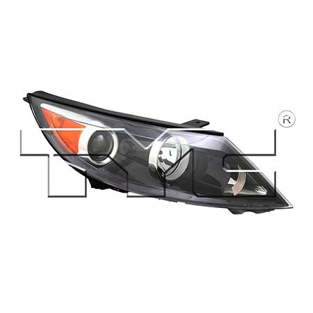 CarLights360: Fits 2011 2012 Kia Sportage Headlight Assembly Passenger Side (Right) NSF Certified W/O LED DRL w/Bulbs Halogen Type - Replacement for KI2503148 (Vehicle Trim: Base ; EX ; LX)
