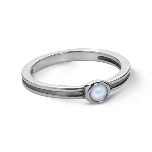 Natural Garnet 925 Sterling Silver Stack//Stackable Ring SZ 5
