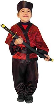 EL CARNAVAL Disfraz Samurai Infantil Talla de 8 a 10 años: Amazon ...