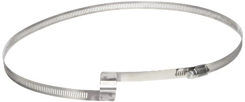 8 Inch Gear - Flex-Tube Bridge Stainless Steel Worm Gear Hose Clamp, 8