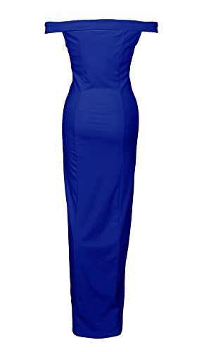 PRETTYGARDEN Womens 2018 Off Shoulder Side Split Slim Evening Maxi Party Dress