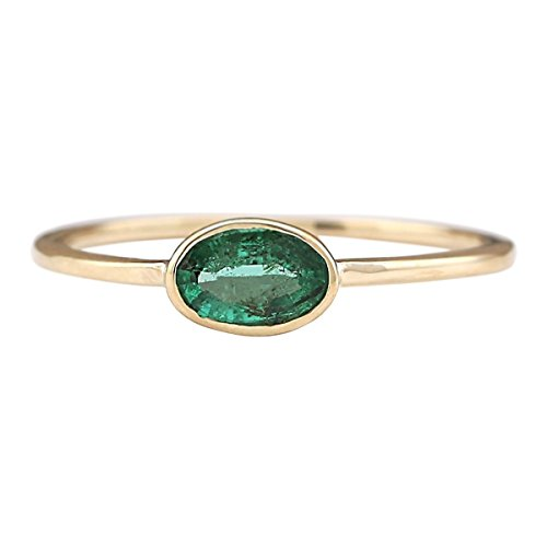 0.5 Ct Emerald Ring - 7