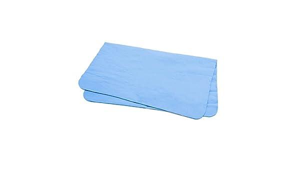 Amazon.com: eDealMax Azul de la gamuza sintética de Lavado de toallas hogar del coche el paño limpio del plumero de 43cm x 32cm: Automotive