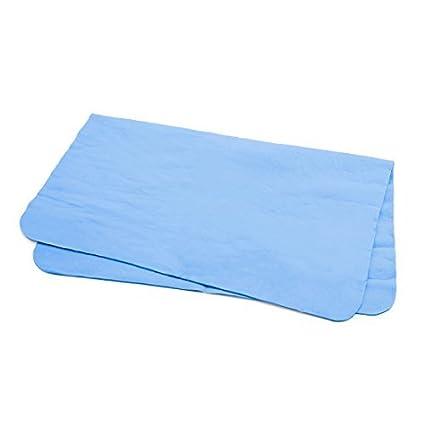 eDealMax Azul de la gamuza sintética de Lavado de toallas hogar del coche el paño limpio