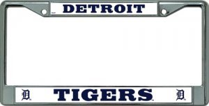 MLB Detroit Tigers Chrome License Plate (Athletics Tigers)