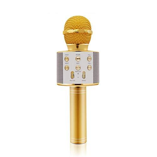 LmqhGzuqume Microfono Alta sensibilit/à Musica KTV Riproduzione di microfoni Karaoke Oro