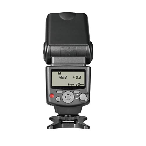 Lcd Display Accessory - Voking VK430 E-TTL LCD Display Speedlite Shoe Mount Flash for Canon EOS 70D 77D 80D Rebel T7i T6i T6s T6 T5i T5 T4i T3i SL2 and Other Eos Digital DSLR Camera with Standard Hot Shoe Stand