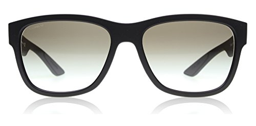 Prada Linea Rossa Men's 0PS 03QS Black Rubber/Grey - Mens Prada Wayfarer Sunglasses