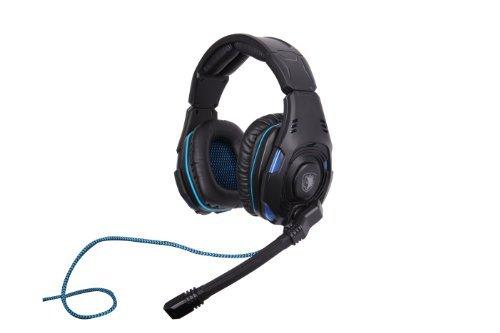 Cheap SADES SA-907 PC Gaming Headset w/ Microphone + Volume Control – Black/Blue