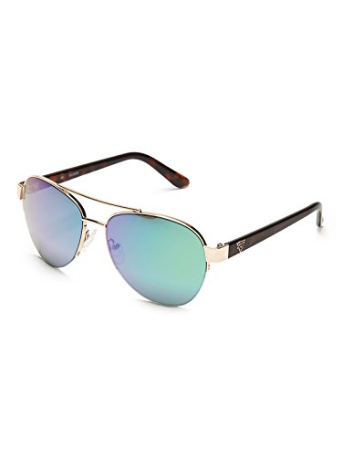 Guess GUF254 GLD 2F Women's Rimless Sunglasses Aviator Gold - Guess Aviator
