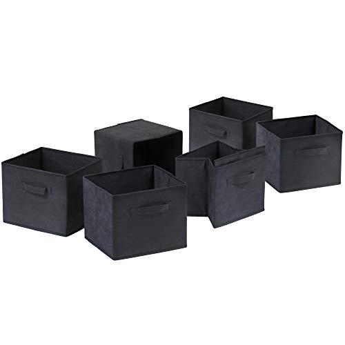 Winsome 22611 Capri Storage/Organization, 6 Small, Black