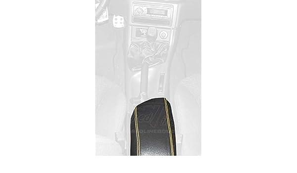 Amazon.com: RedlineGoods cubierta de apoyabrazos Compatible con Ford Cougar 1999-03. Alcantara Negra Costura Plata: Automotive