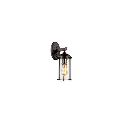 Wall Sconces 1 Light Fixture with Rubbed Oil Bronze and Antique Brass Finish Metal E26 5