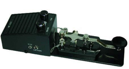 MFJ Enterprises Original MFJ-557 Deluxe Morse Code Practice Oscillator Straight Key w/Volume Control by MFJ