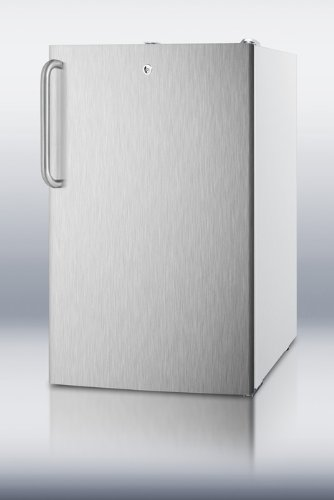 FS407LSSTBADA 20 Medically Approved and ADA Compliant Upright Freezer with 2.8 cu. ft. Capacity Factory-Installed Lock Hospital Grade Cord Manual Defrost and Pull-Out Drawers in Stainless Steel