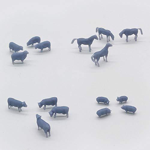 Outland Models Model Railroad Horse Sheep Cow Pig Farm Animal Set N Scale 1:150