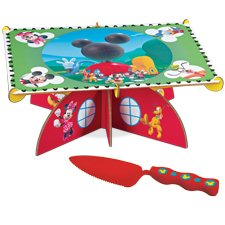 Wilton Mickey Mouse Clubhouse Cake Stand Kit with Server, Health Care Stuffs