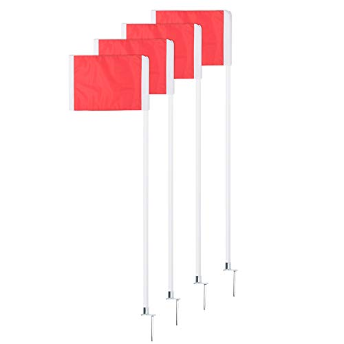 Champion Sports Soccer Corner Flag Set with Steel Peg