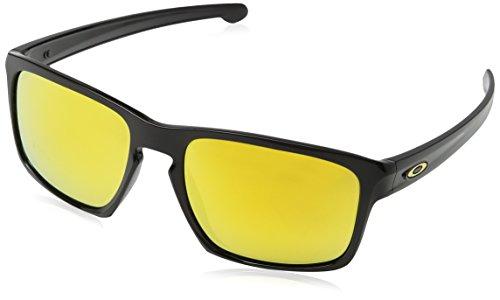 Oakley Men's Sliver 0OO9262 Non-polarized Iridium Rectangular Sunglasses, POLISHED BLACK, 57.02 mm