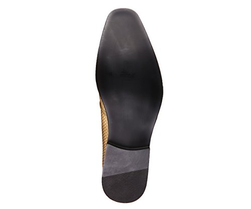 Amali Hommes Mini-star Couvert De Fumée Lisse Pantoufle, Chaussure De Soirée Slip-on Loafer Robe, Style Murray Lumière Or