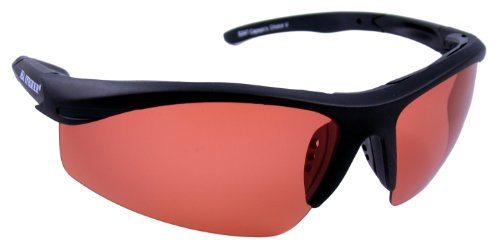 Sea Striker Captain's Choice Polarized Sunglasses with Black Frame and Vermillion polarised Lens (Fits Medium to Large - Frame Striker