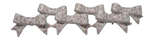 Ceramic Decorative Drawer Handle Bow Shaped Knobs With Hand Painted Designs (Pink (Hand Painted Butterfly Knob)