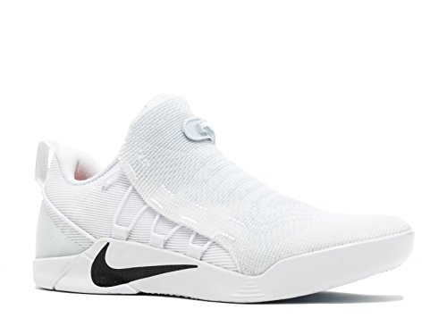 Nike Mens Kobe A.D. NXT Basketball Shoes White/Black 882049-100 Size 13