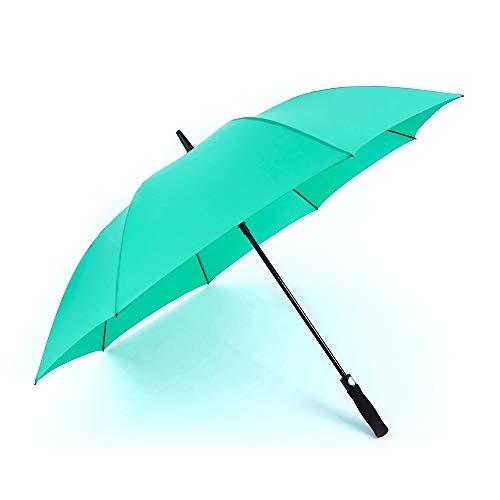 RUMBRELLA Golf Umbrella Large Windproof Umbrellas Auto Open 55IN, Green - Golf Umbrella Lightweight Fiberglass