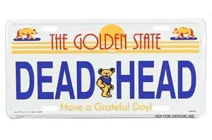 Amazon.com: License Plate Cal Dead Head: Toys & Games