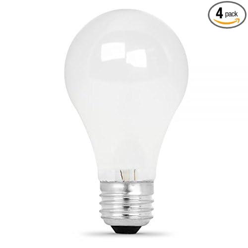 Feit Electric Q53a//W//4//Rp 53 Watt A19 Dimmable Halogen Bulb Pack 4 Count