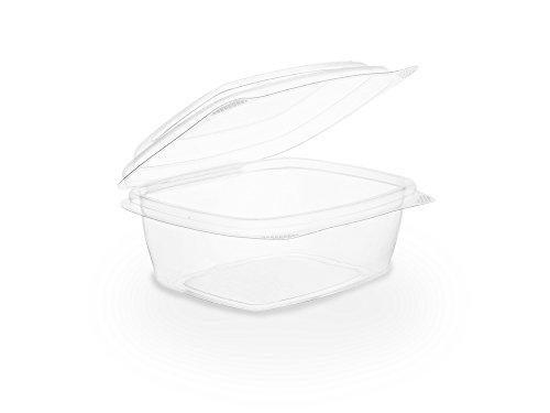 - Vegware VHD-08 8oz PLA hinged Deli Container (Case of 300)