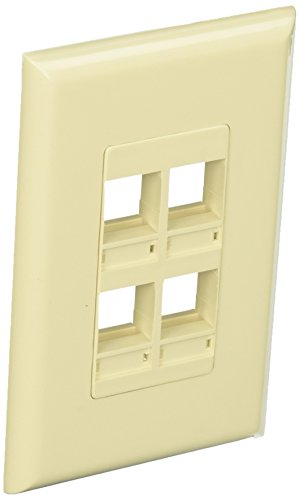 Channel Vision Ivory Single (Channel Vision 10-J-4DGI 4-Jack Ivory Decora Compatible Insert Single Gang Wall Plate)