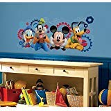 (Nursery Wall Decal for Boys & Girls / Disney Mickey Mouse Clubhouse Capers Peel and Stick Giant Wall Decals)