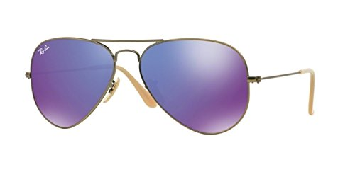 Ray-Ban Aviator Large Metal Sunglasses RB3025 167/1M-55 - Brushed Bronze Demi - Rb3025 Buy Ban Ray