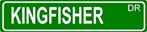 kingfisher-aluminum-street-sign-dog-lover-aluminum-novelty-street-sign