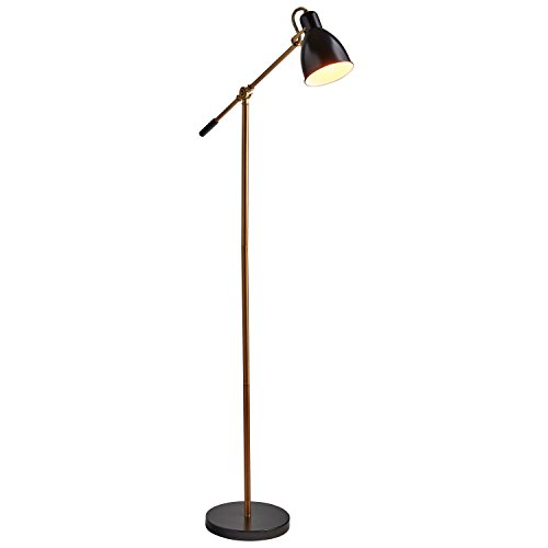 Rivet Caden Adjustable Task Floor Lamp with LED Bulb, 60