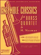 Hal Leonard Ensemble Classics for Brass Quartet Vol 1 for Two Cornets, Horn, & Trombone Or Baritone from Rubank